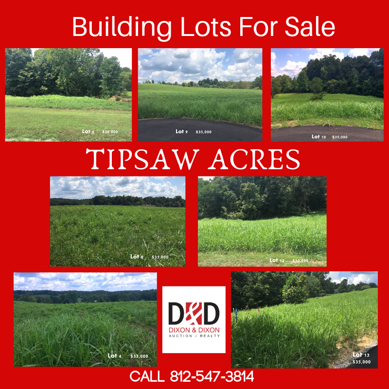 Tipsaw Acres Building Lots