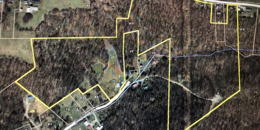 57 Acres with 2 houses, pond and outbuilding!