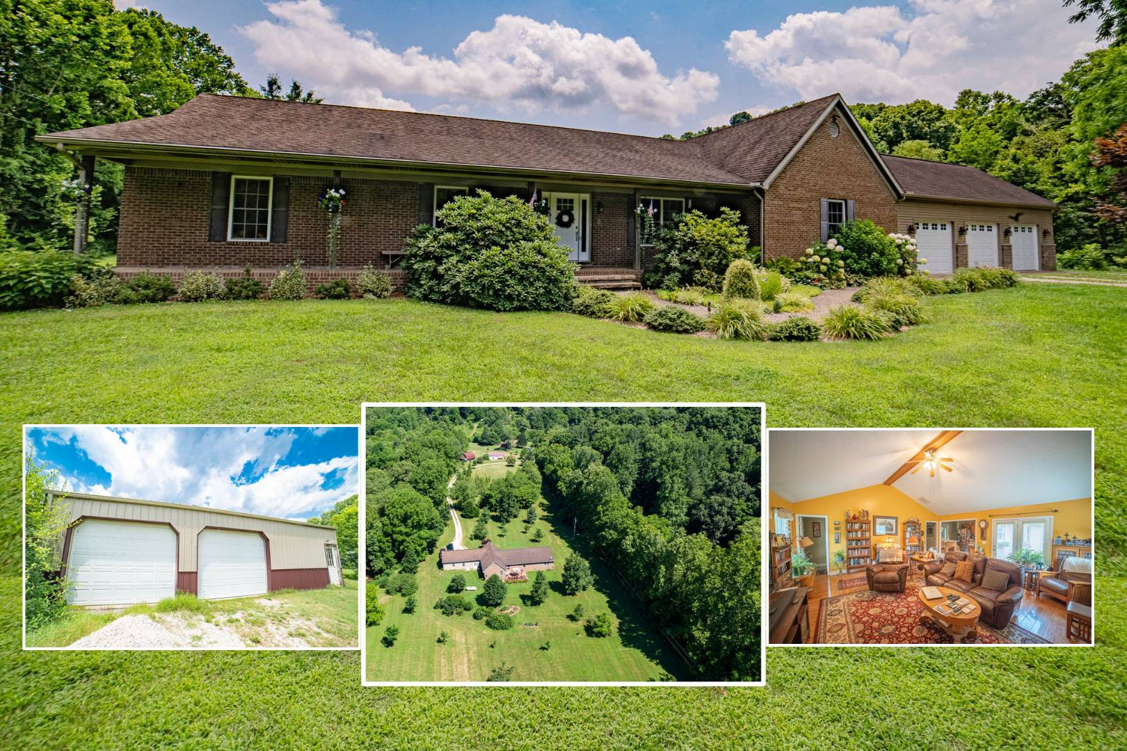 Beautiful 4 Bdrm Home on 10 Acres, Barns & Garages!